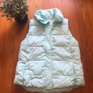 Old Navy Mint Green Puffer Vest M